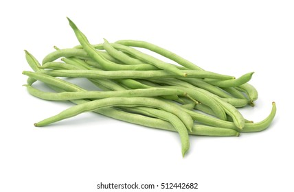 broad bean pods and beans on white background . with a clipping path