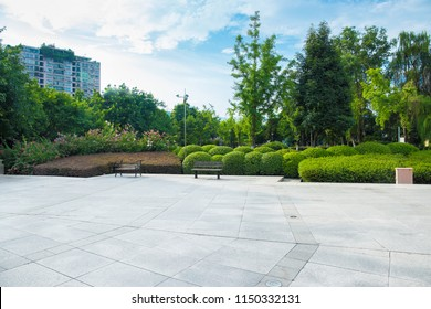 Broad squares and quiet city parks, green meadows, lush forests and blue sky and white clouds