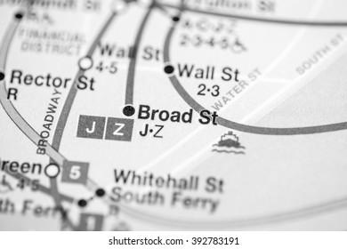 Broad St. Nassau Street Express Line. NYC. USA