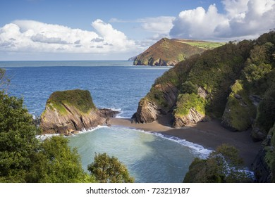 Broad Strand Beach near Combe Martin in North Devon, England, UK
