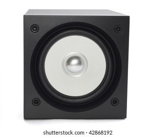 broadband speaker isolated on white