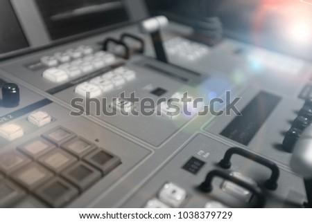 Broadcast Studio Video Audio Switcher Mixer Stock Photo