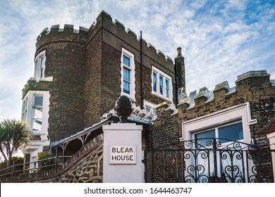 Broadstairs, England - Feb 12 2020 Bleak House, built in 1801and was once a captain's residence and the occasional home of writer Charles Dickens.