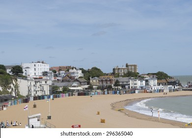 BROADSTAIRS,UK-JUNE 15: View of Viking Bay and Bleak House in Broadstairs.  Kent beaches have been voted as some of the best in Europe for families in 2015. June 15, 2015 in Broadstairs Kent UK.