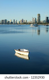 The Broadwater Gold Coast Australia with Southport and Main Beach in the background.