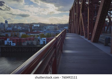 Broadway Bridge in Portland Oregon in late afternoon - November 2017