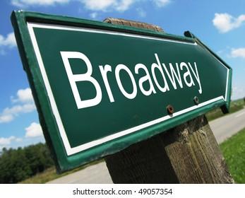 BROADWAY road sign