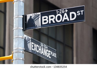 Broadway road sign in manhattan new york