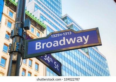 Broadway sign in New York City