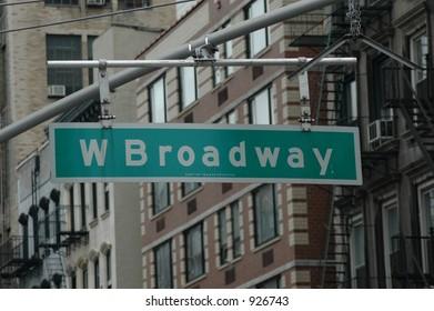 Broadway sign, NY