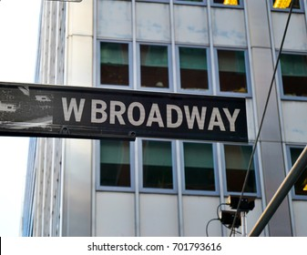 Broadway Street in Manhattan