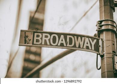 Broadway street sign in Manhattan.