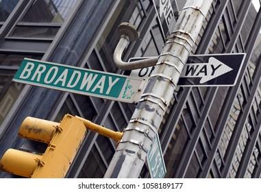Broadway street sign, Manhattan New York
