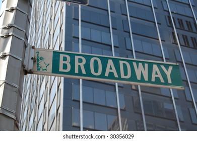 broadway street sign; Manhattan new york city