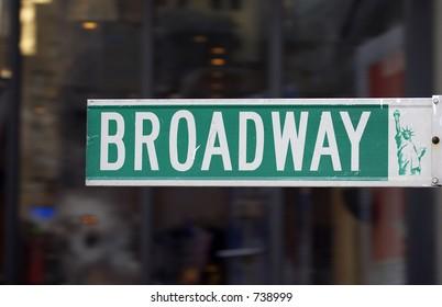 Broadway street sign, manhattan, new york, America, usa