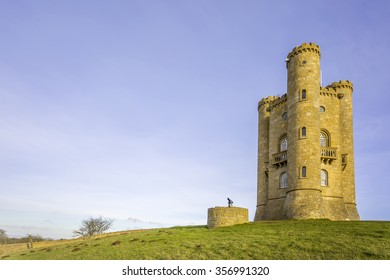 Broadway Tower in Worcestershire, England, brainchild of Capability Brown and designed for the Earl of Coventry by architect James Wyatt in 1798