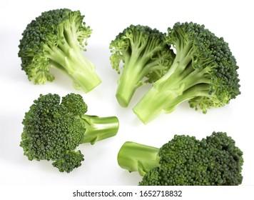 Broccoli Cabbage, brassica oleracea against White Background