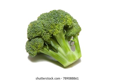 Broccoli cabbage on a white background