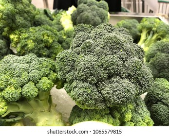 Broccoli close up view fresh green vegetable for health