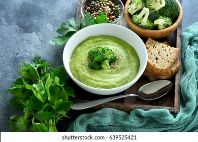 Broccoli cream soup, vegan, vegetarian eating, healthy food