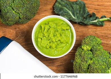 Broccoli pureed,Supplementary food for children,vegetable puree,