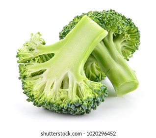 Broccoli isolated. Broccoli on white background. Full depth of field.