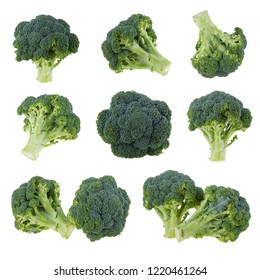 broccoli isolated on white background - Shutterstock ID 1220461264