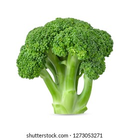 Broccoli isolated on white background with clipping path