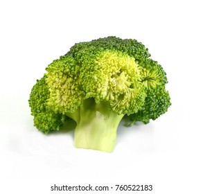 Broccoli isolated on a white background.