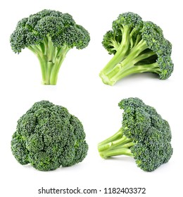Broccoli. Broccoli isolated on white. Full depth of field.
