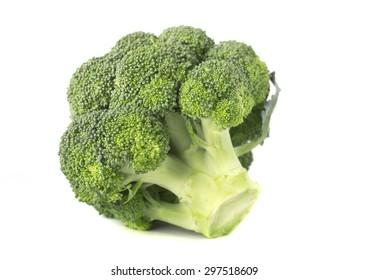 Broccoli isolated on white macro
