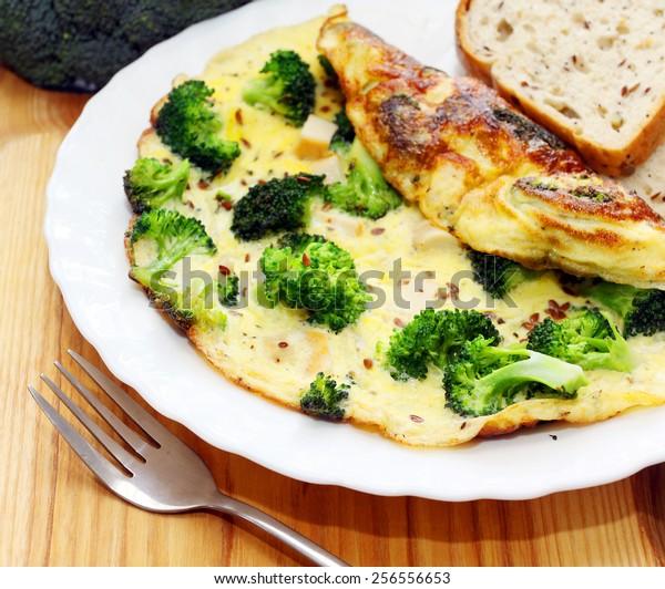 Broccoli omelette. Breakfast