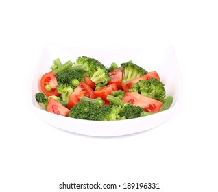 Broccoli salad. Isolated on a white background.