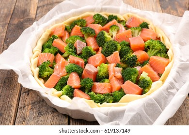 broccoli and salmon quiche