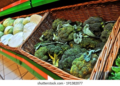 broccoli sprouts in the store