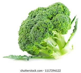 Broccoli vegetable isolated on white background.