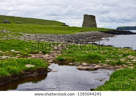 Broch of Mousa Shetland, Scotland - built in 300 BC.