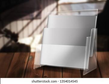 Brochure Display 3d rendering