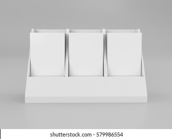 brochure leaflet holder template mock up 3d rendering