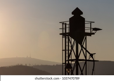 brocken germany with water tower