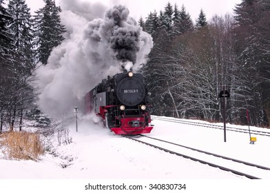 die Brocken-Bahn im Winter