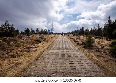 Brocken summit with antenna