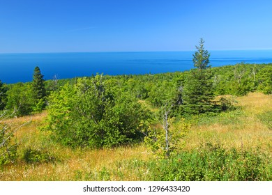 Brockway Mountain is located along the Keweenaw Peninsula of upper Michigan and provides spectacular views of Lake Superior