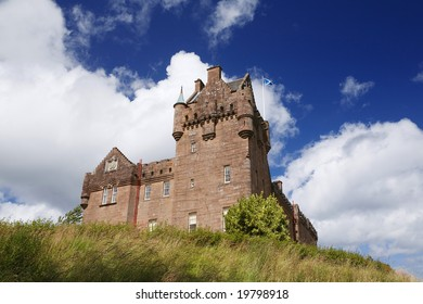 Brodick Castle in Arran on a summer day