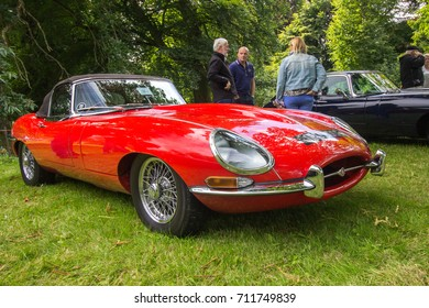 BRODIE, SCOTLAND - August 13 2017: Classic Jaguar E Type at a vintage rally