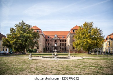 BRODY, POLAND - October 8th 2018: Bruhl palace in Brody, Poland