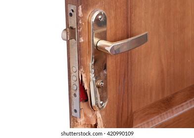 Broken Door Lock Images Stock Photos Amp Vectors Shutterstock