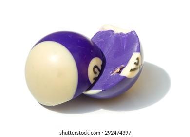 broken billard ball number 12