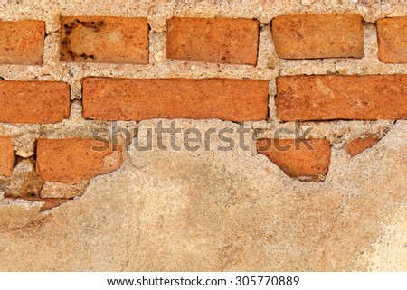 It is Broken brick wall for pattern.