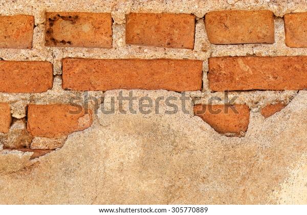 It is Broken brick wall for pattern.